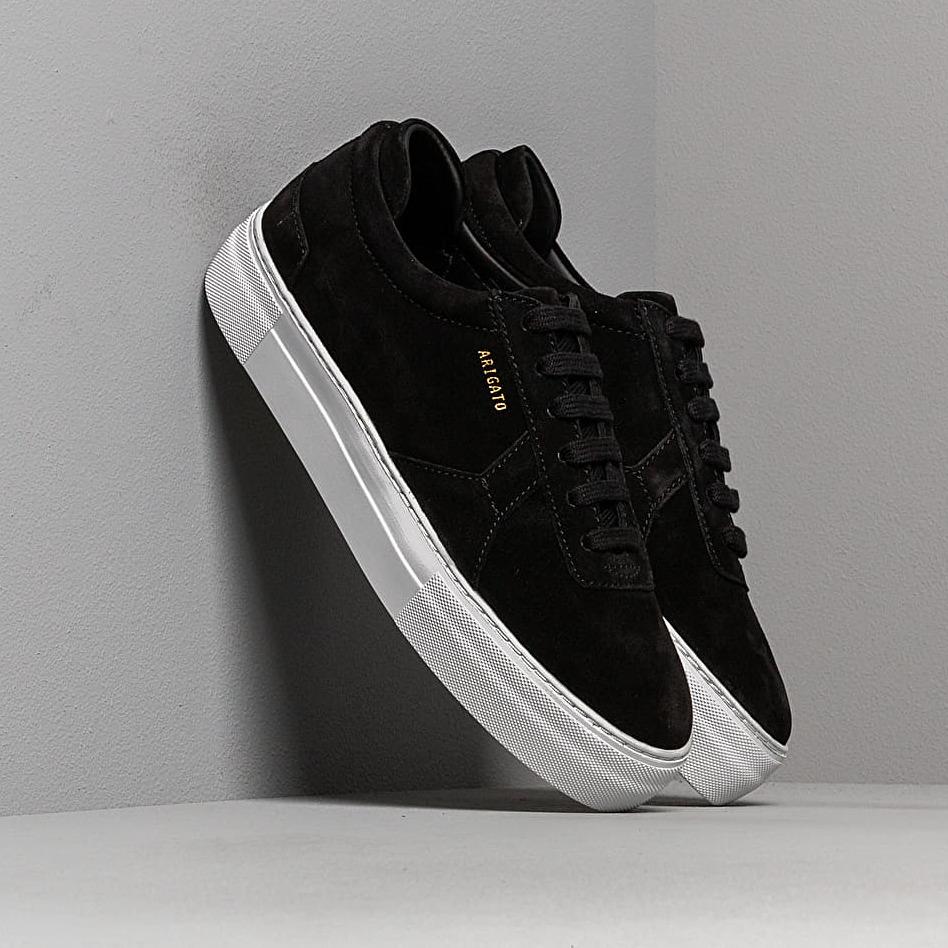 AXEL ARIGATO Platform Sneaker Suede Leather Black