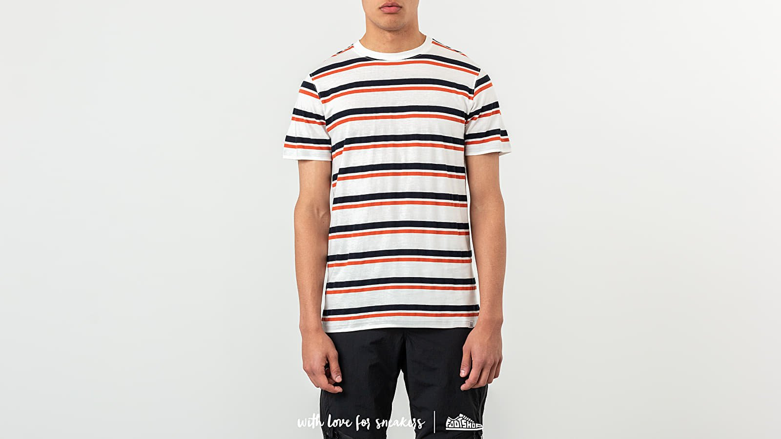 Norse Projects Niels Pique Stripe Pumpkin Orange/ Fark Navy Stripe za skvelú cenu 83 € kúpite na Footshop.sk