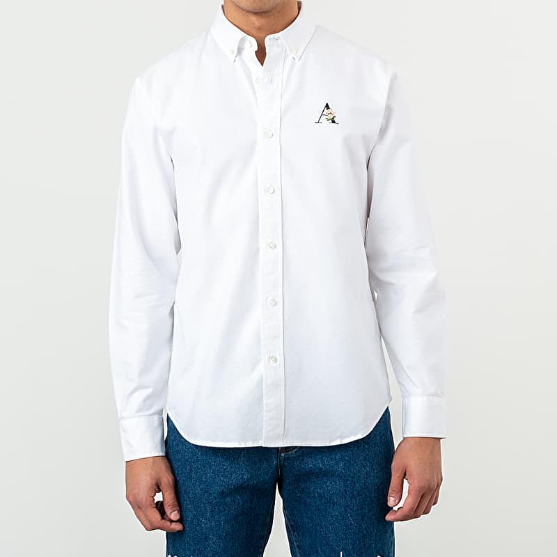 Aimé Leon Dore Floral Logo Oxford Shirt White