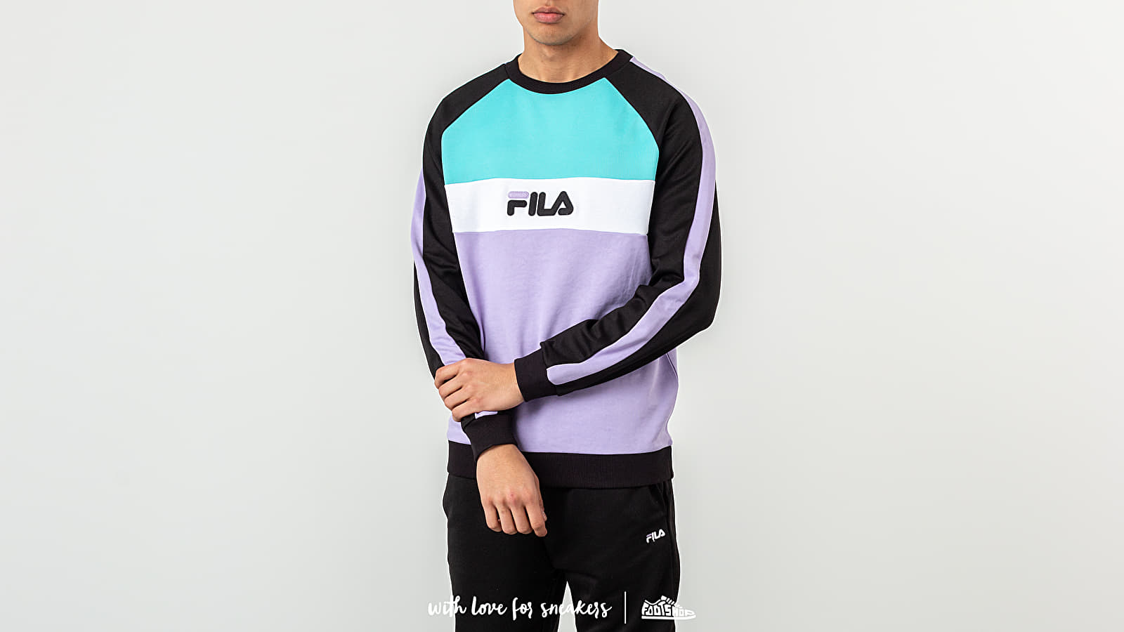 FILA Kail Crewneck Black/ Violet Tulip/ Bright White/ Blue Curacao at a great price 68 € buy at Footshop