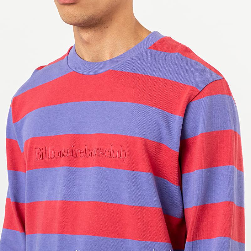 Billionaire Boys Club Heavy Striped Long Sleeve Tee Red, Multicolour