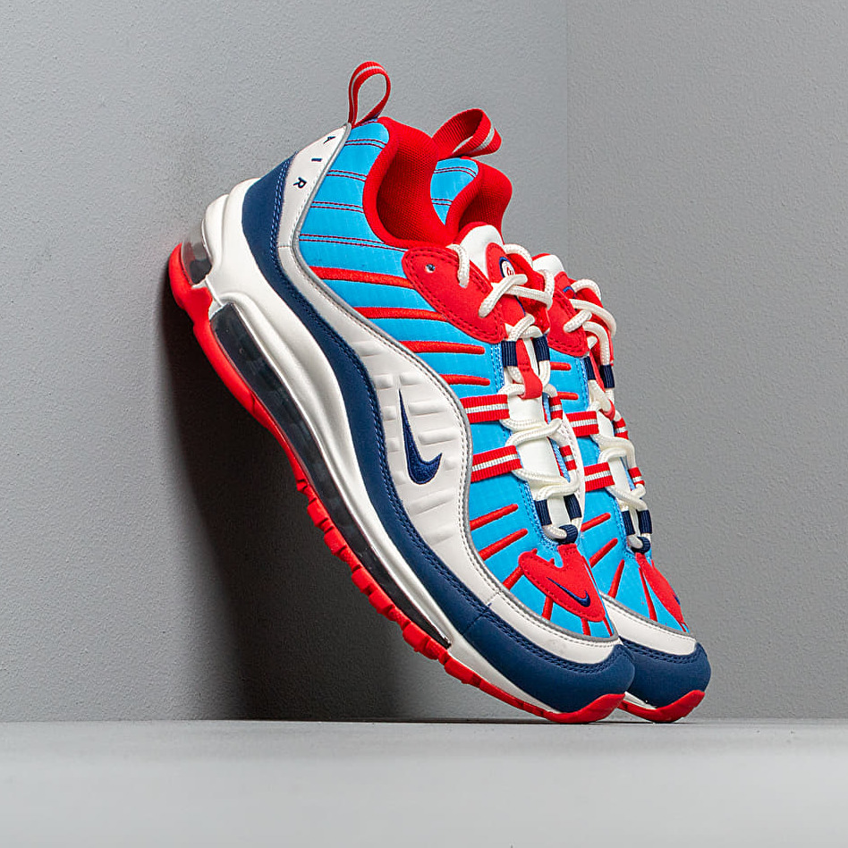 Nike W Air Max 98 Summit White/ Blue Void-University Red EUR 38.5