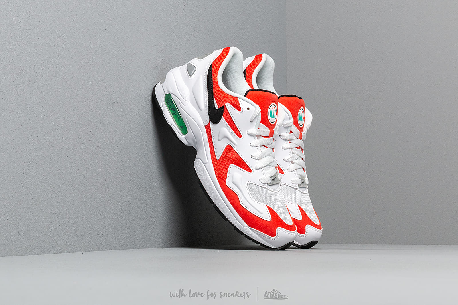 Nike Air Max2 Light White/ Black-Habanero Red-Cool Grey at a great price 132 € buy at Footshop
