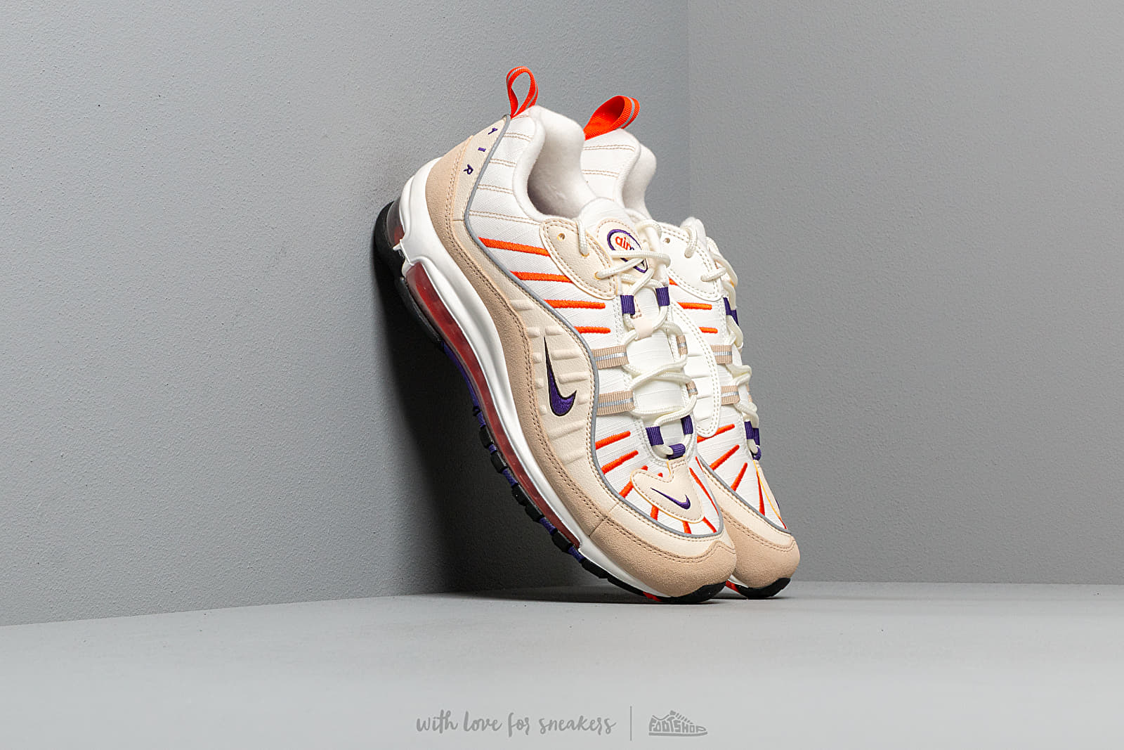 3cca48f1df Nike Air Max 98 Sail/ Court Purple-Light Cream-Desert Ore | Footshop