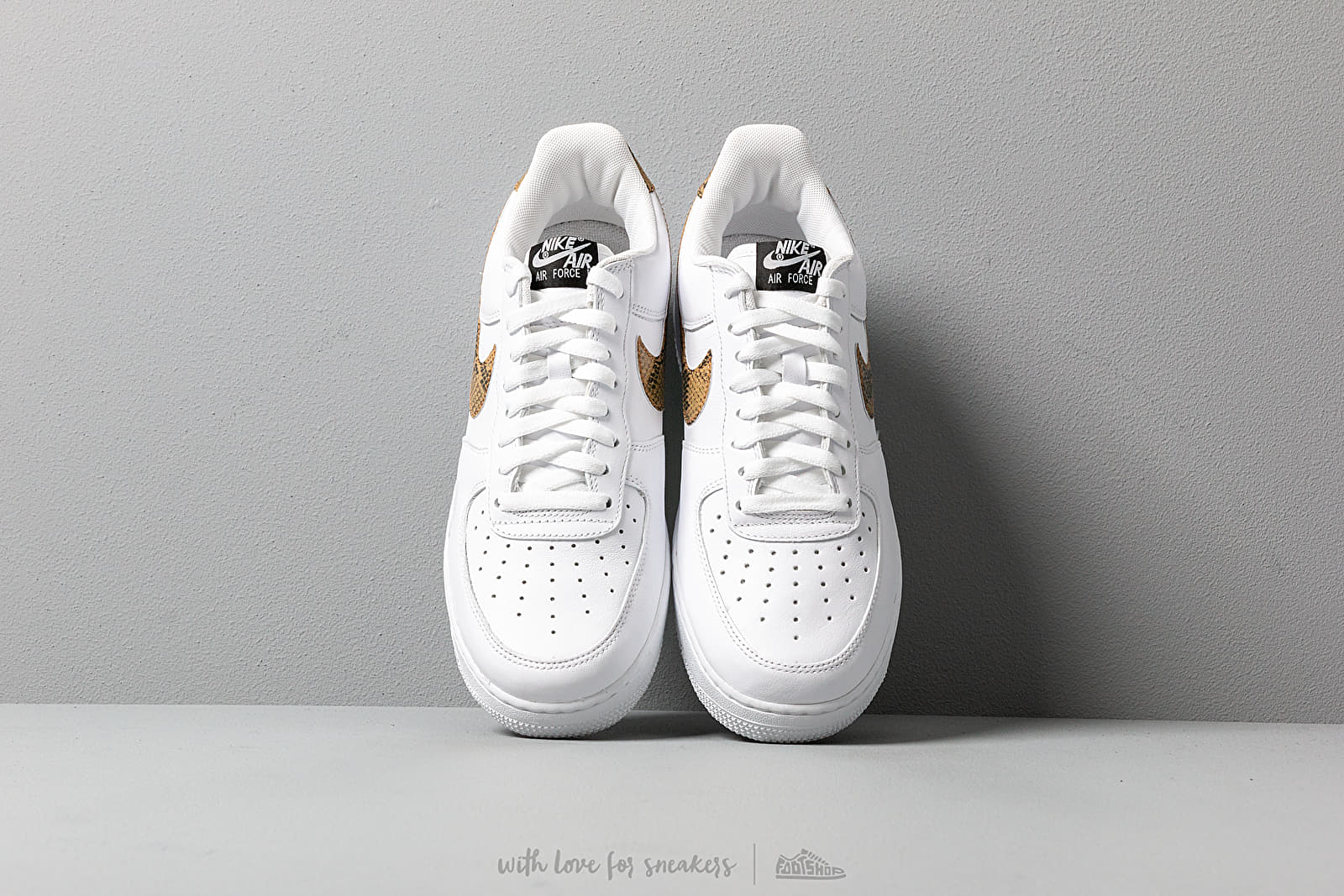 Nike Air Force 1 Low Retro Premium QS White Elemental Gold Dark Hazel Black | Footshop