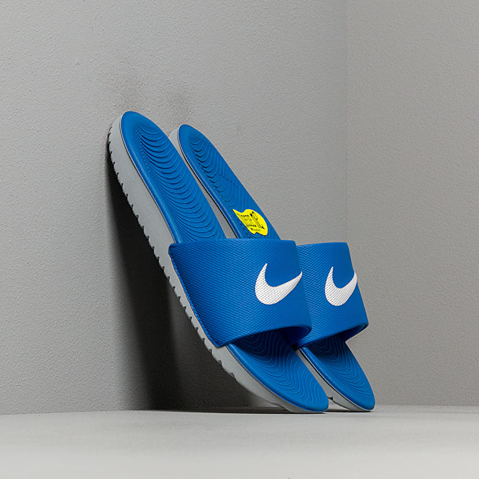 Nike Kawa Slide (GS/PS) Hyper Cobalt/ White, Gray