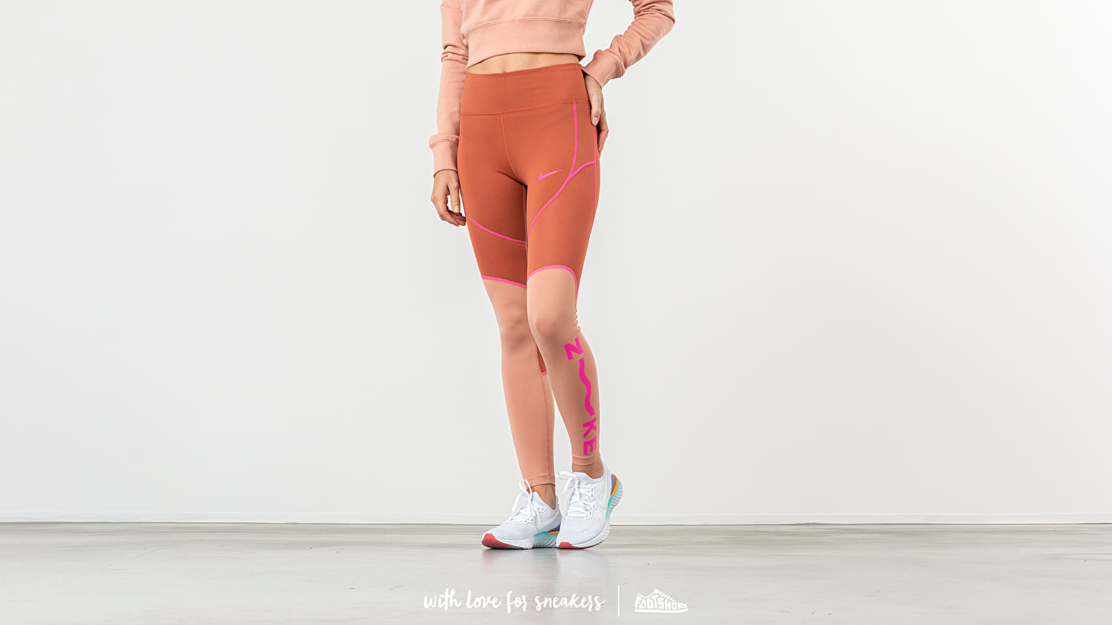 Nike 7/8 Tight Dusty Peach/ Rose Gold/ Laser Fuchsia at a great price 48 € buy at Footshop
