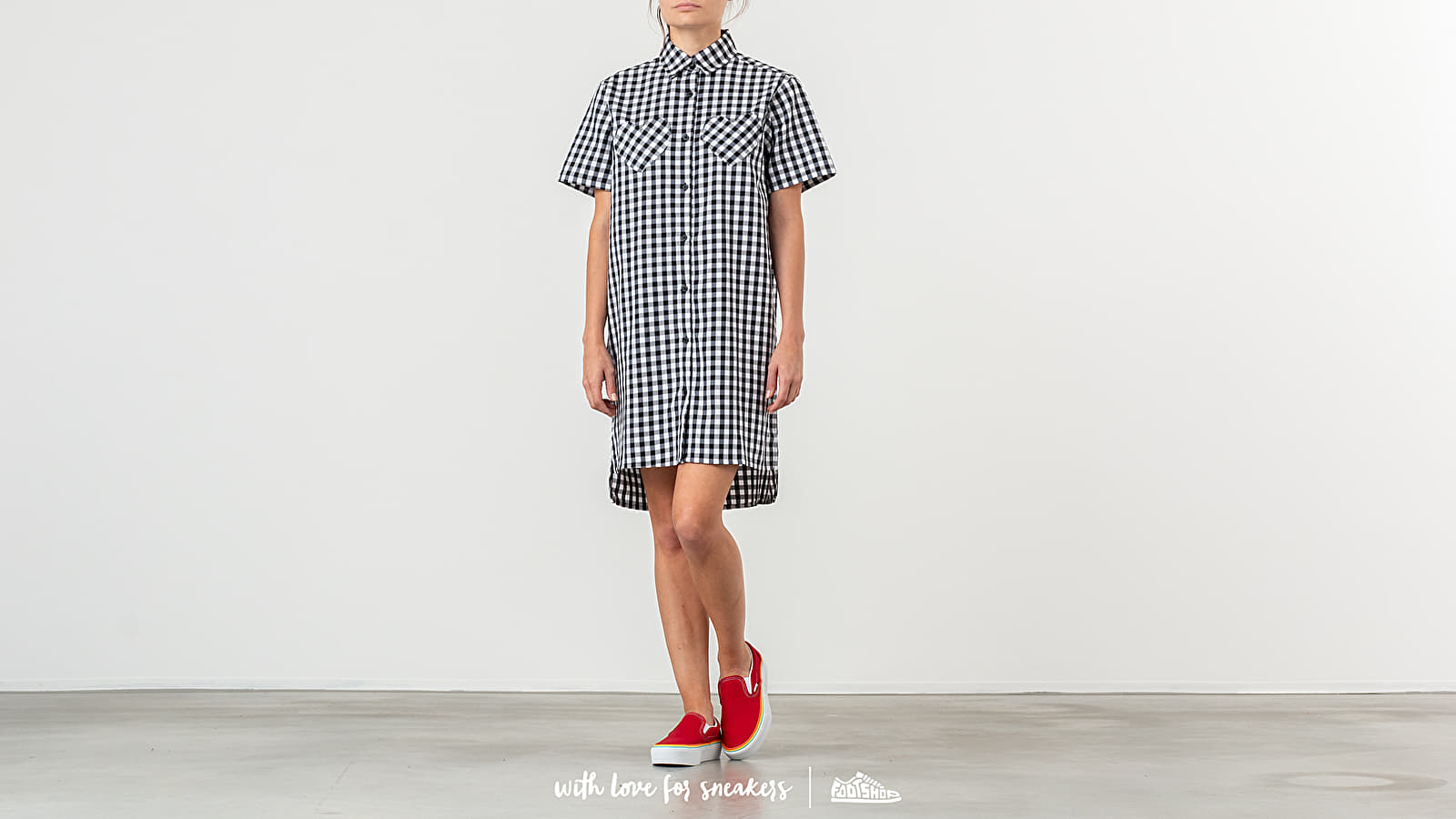 Lazy Oaf Gingham Heart Shirt Dress