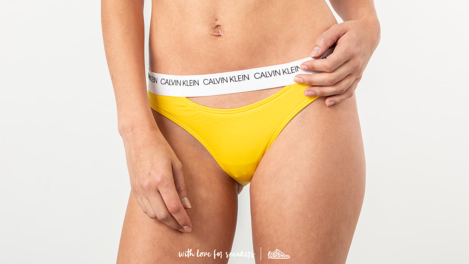 Plavky Calvin Klein Classic Swim Bikini Yellow
