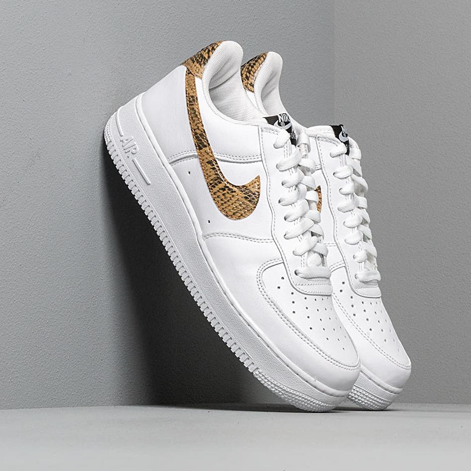 Nike Air Force 1 Low Retro Prm QS White/ Elemental Gold-Dark Hazel-Black EUR 40.5