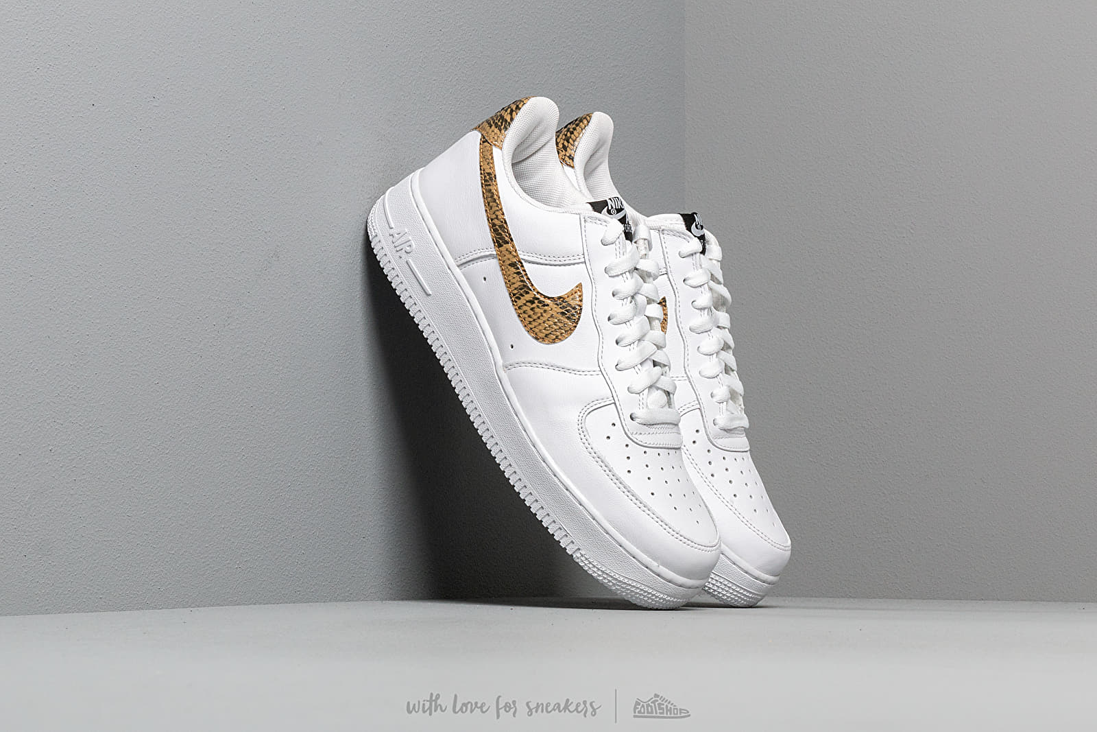 cc07b524410 Nike Air Force 1 Low Retro Prm QS White/ Elemental Gold-Dark Hazel ...