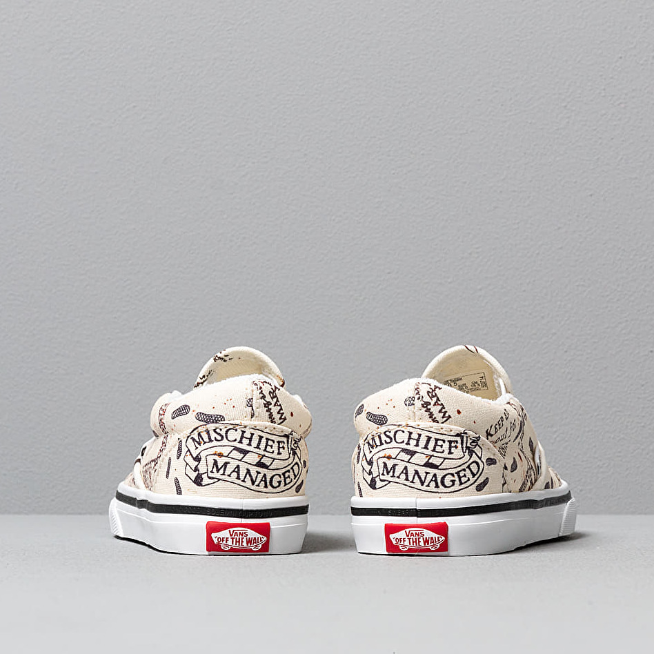 Vans x Harry Potter Classic Slip-On Marauder's Map/ White, Brown