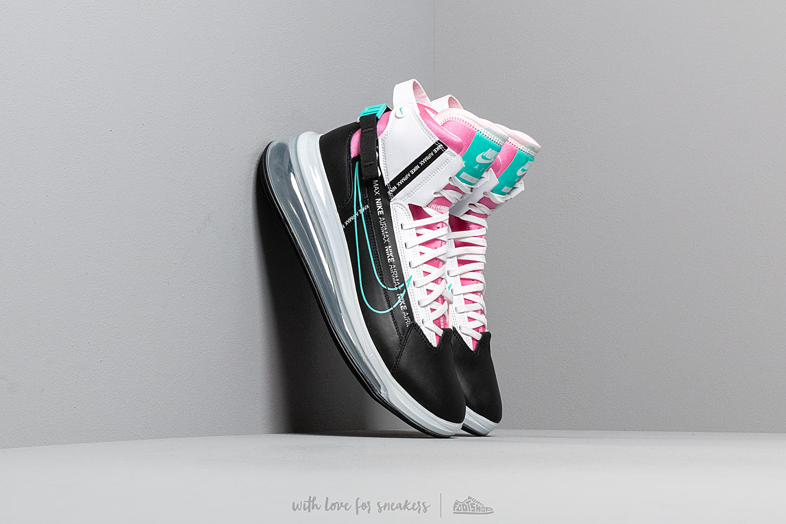 12b0cf6d153fd Nike Air Max 720 Satrn Black  Hyper Jade-White-Bright Crimson at a