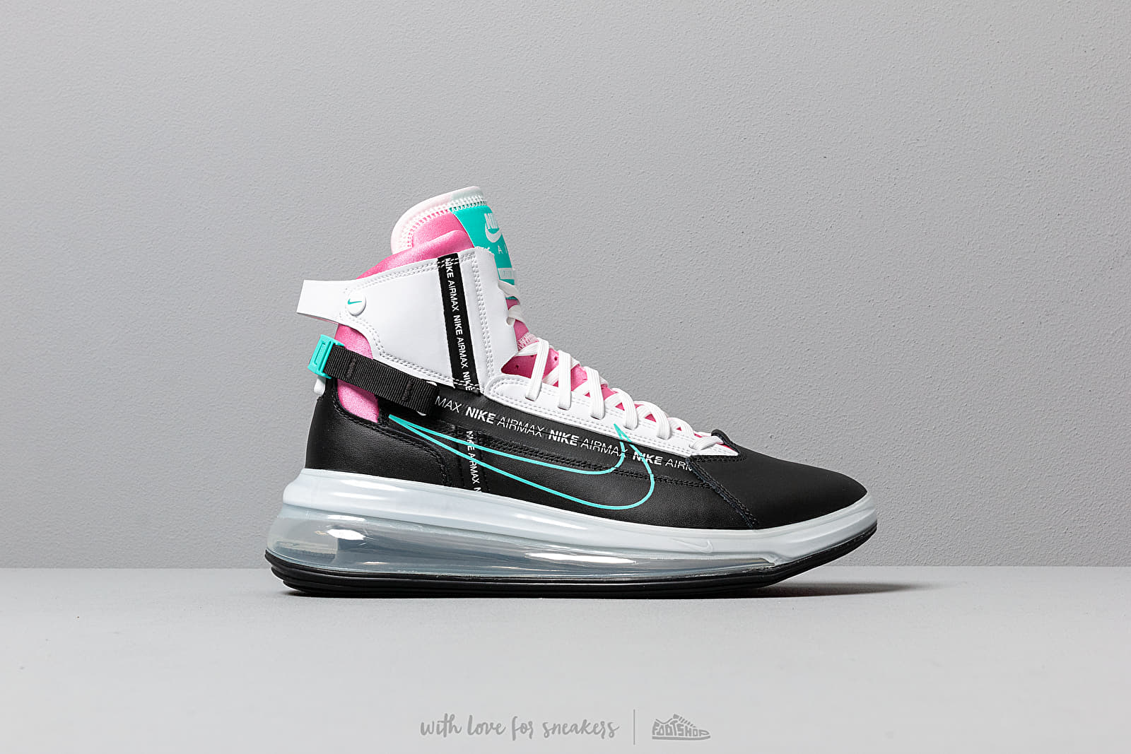 Nike Air Max 720 Saturn Black Hyper Jade White Bright Crimson | Footshop