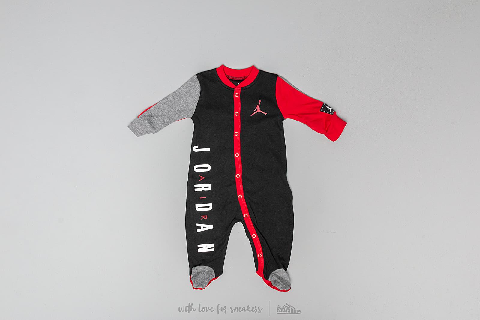 Dětské oblečení Jordan Jumpman Footed Coverall Black