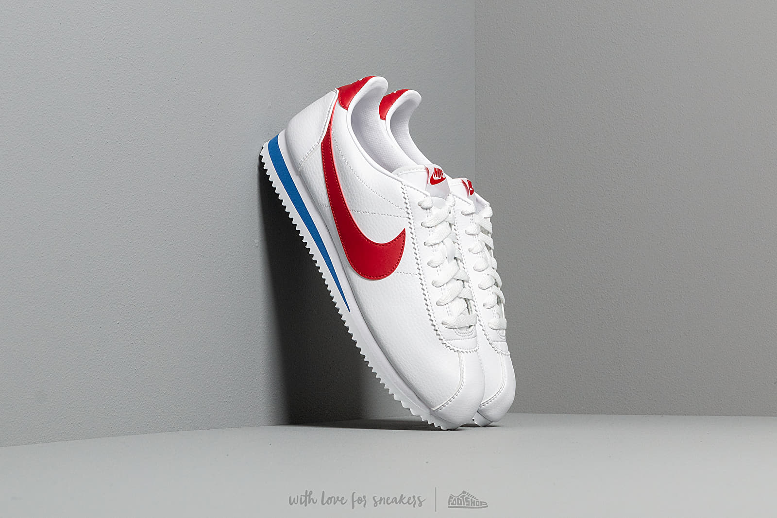 Männer Nike Classic Cortez Leather White/ Varsity Red-Varsity Royal