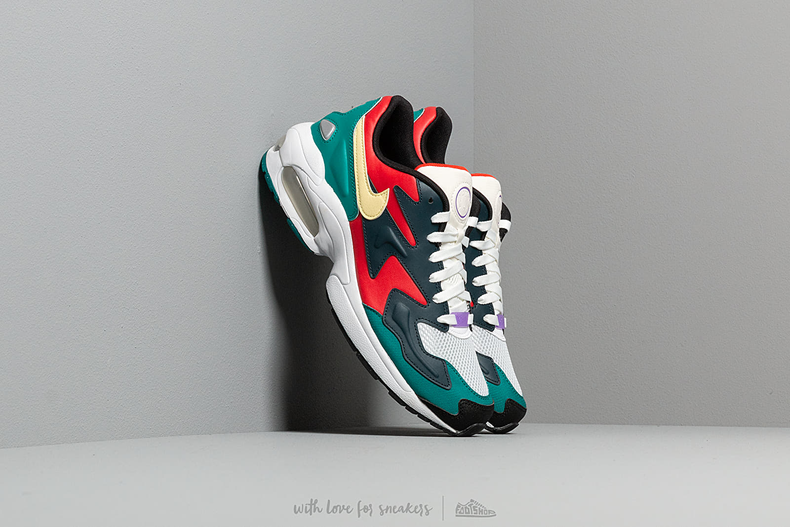 Men's shoes Nike Air Max 2 Light SP Habanero Red/Armory Navy-Radiant Emerald