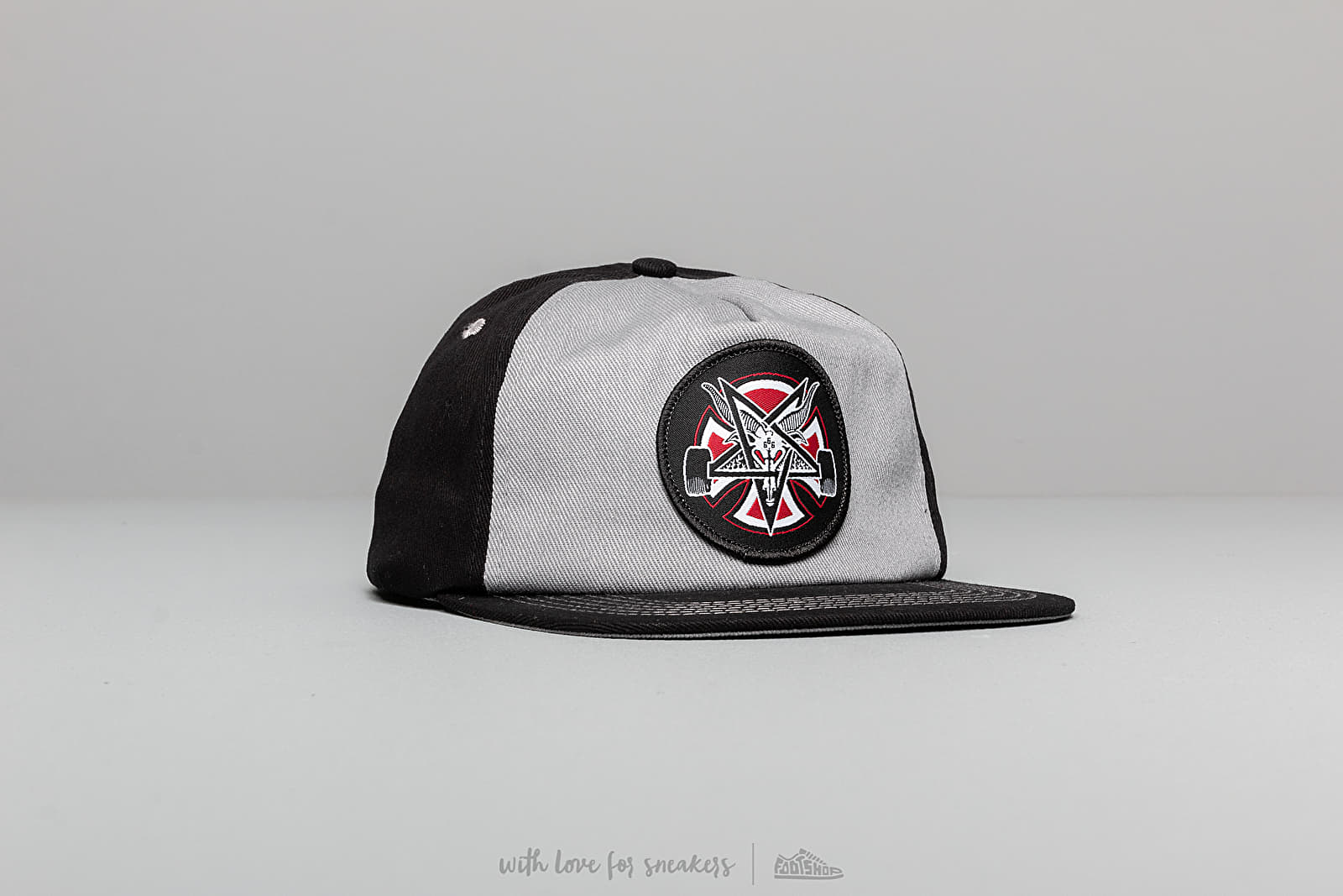 Independent x Thrasher Pentagram Cross Hat Grey/ Black