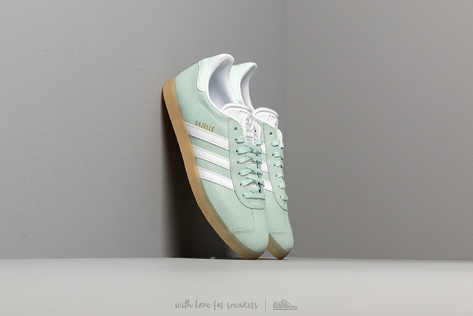 Women's shoes adidas Gazelle W Ice Mint/ Ftw White/ Ecru Tint