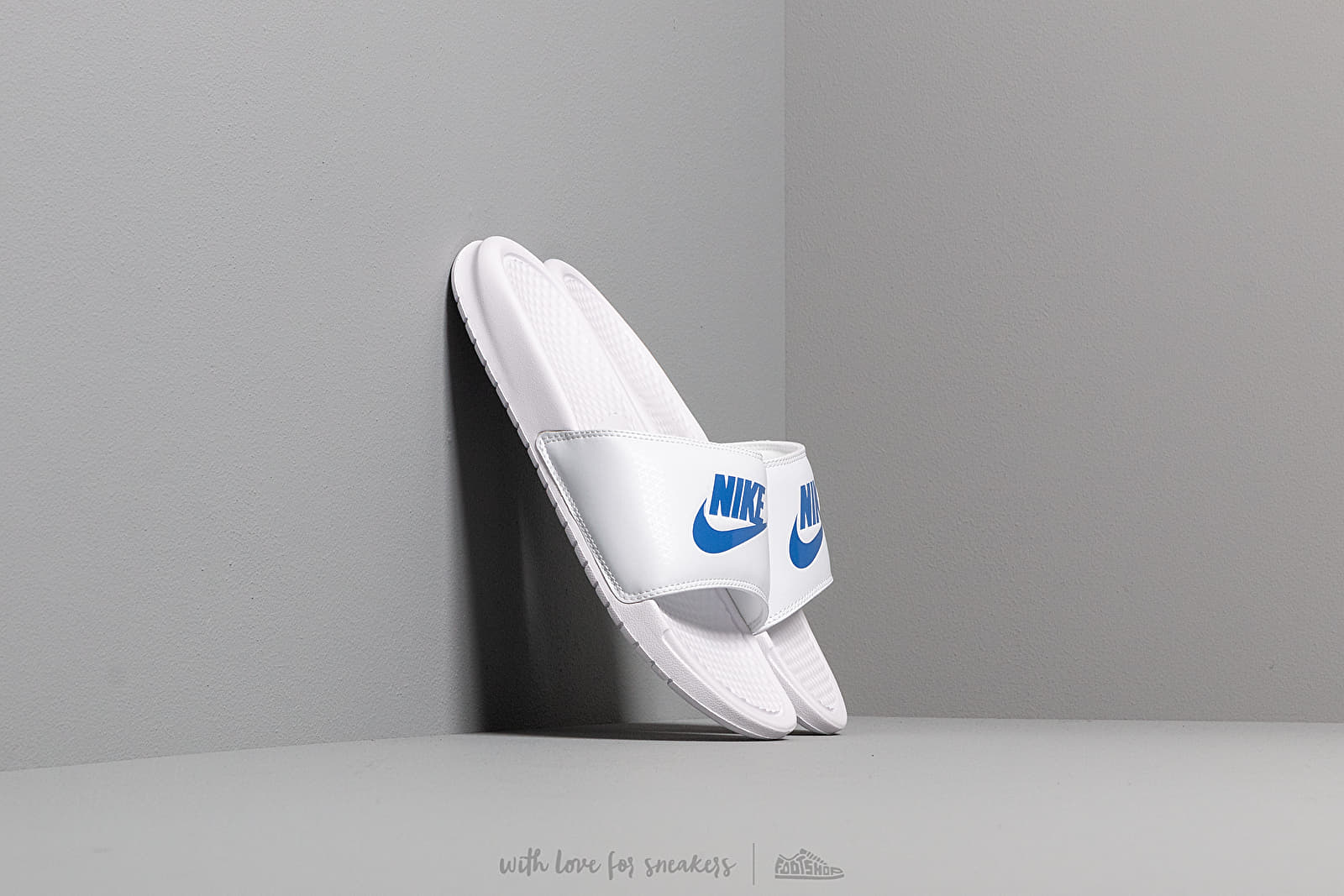 Men's shoes Nike Benassi Jdi White/ Varsity Royal-White