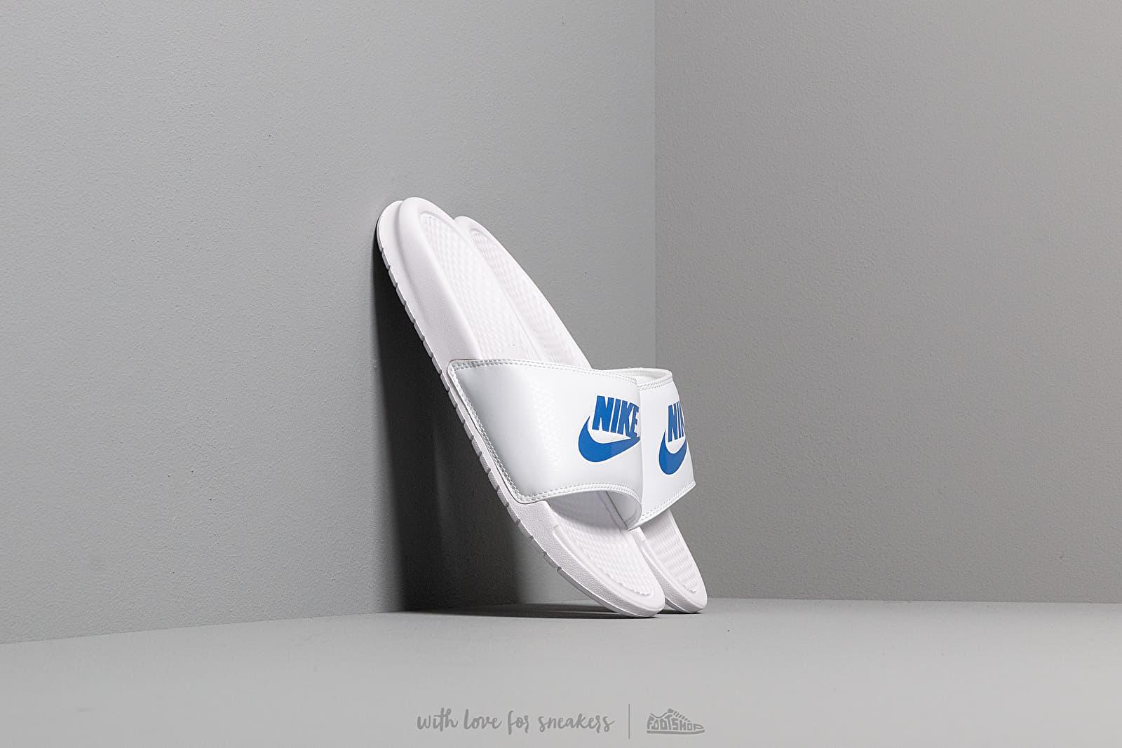 Nike Benassi Jdi White/ Varsity Royal-White za skvělou cenu 490 Kč koupíte na Footshop.cz