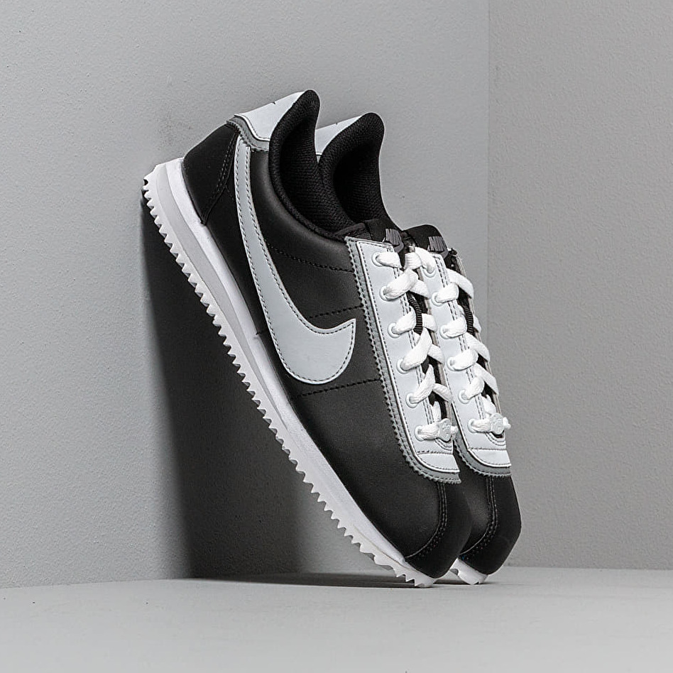 Nike Cortez Basic Leather Double (GS) Black/ Pure Platinum-Cool Grey