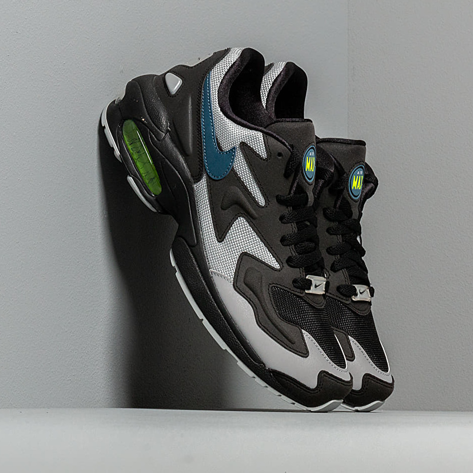 Nike Air Max2 Light Black/ Thunderstorm-Wolf Grey-Volt EUR 42.5