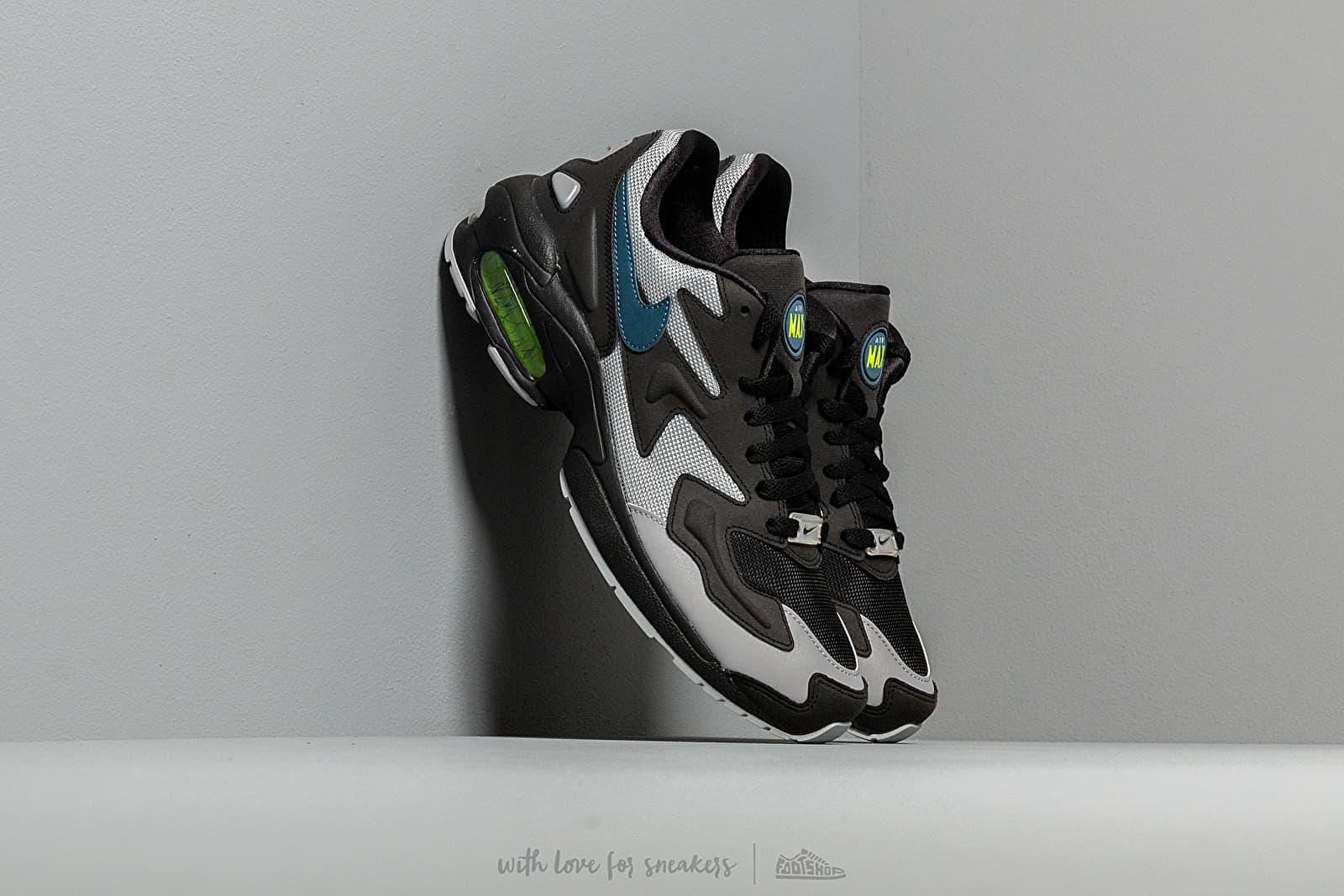 Men's shoes Nike Air Max 2 Light Black/ Thunderstorm-Wolf Grey-Volt
