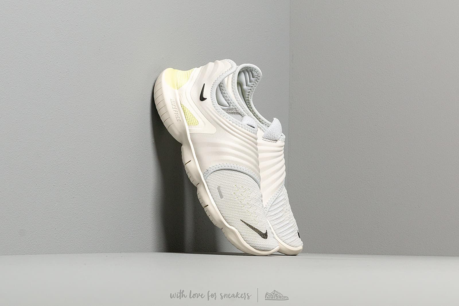 Men's shoes Nike Free Rn Flyknit 3.0 Pure Platinum/ Black-Luminous Green