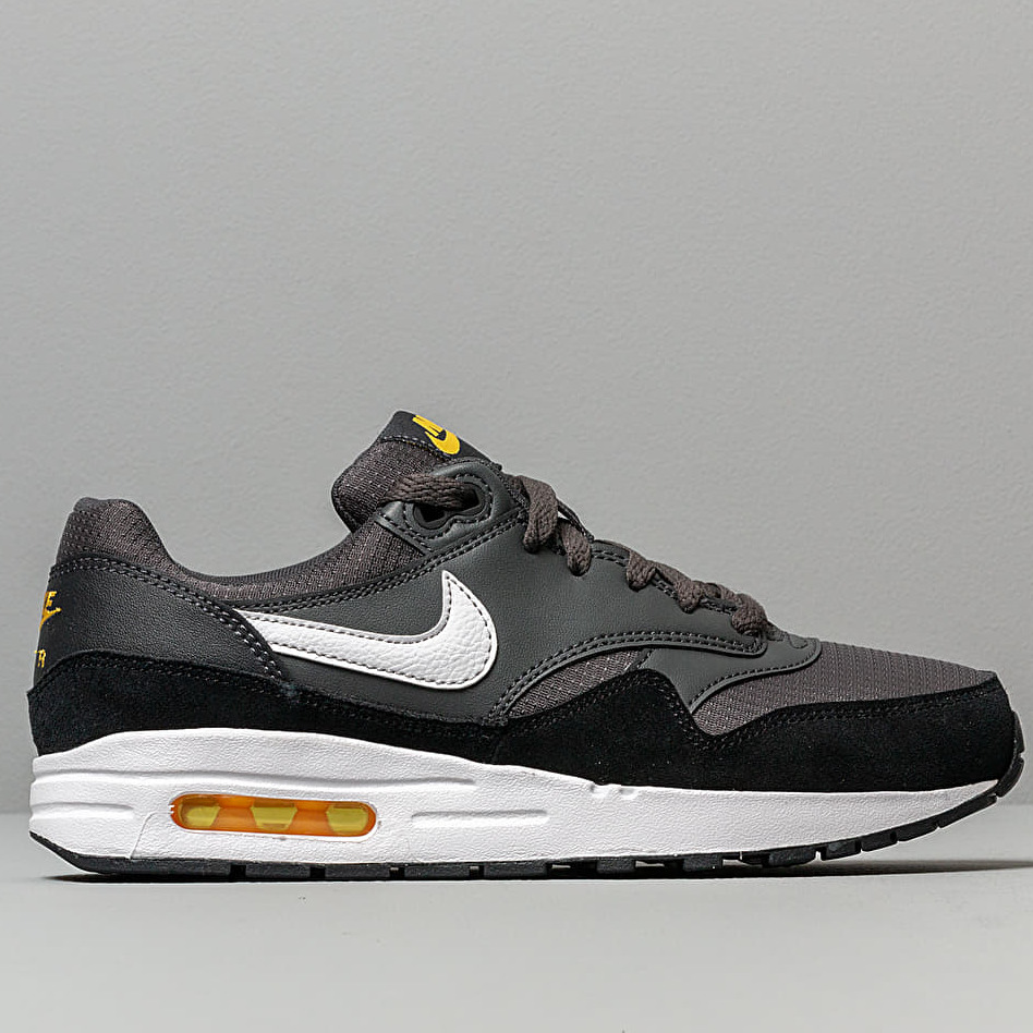 Nike Air Max 1 (GS) Anthracite/ White-Black-Amarillo, Gray