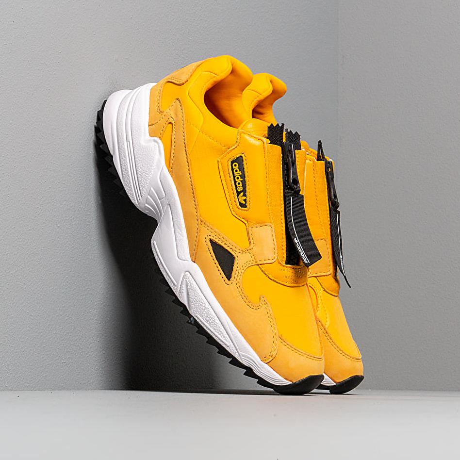 adidas falcon zip yellow