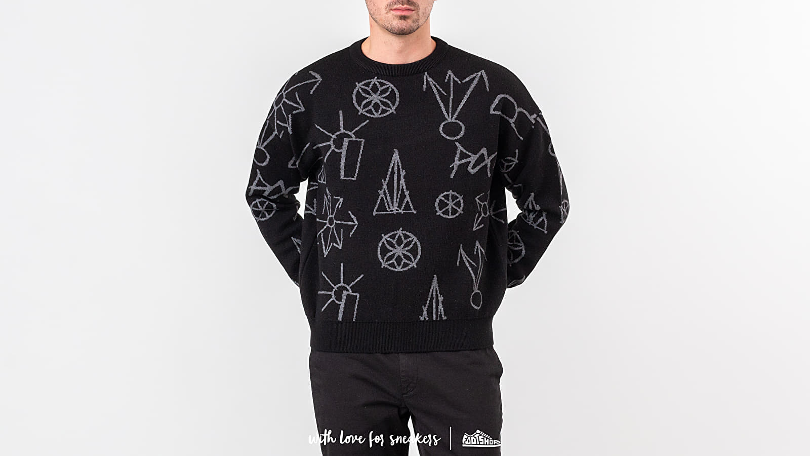 PACCBET Main Graphic Jacquard Knit Sweater