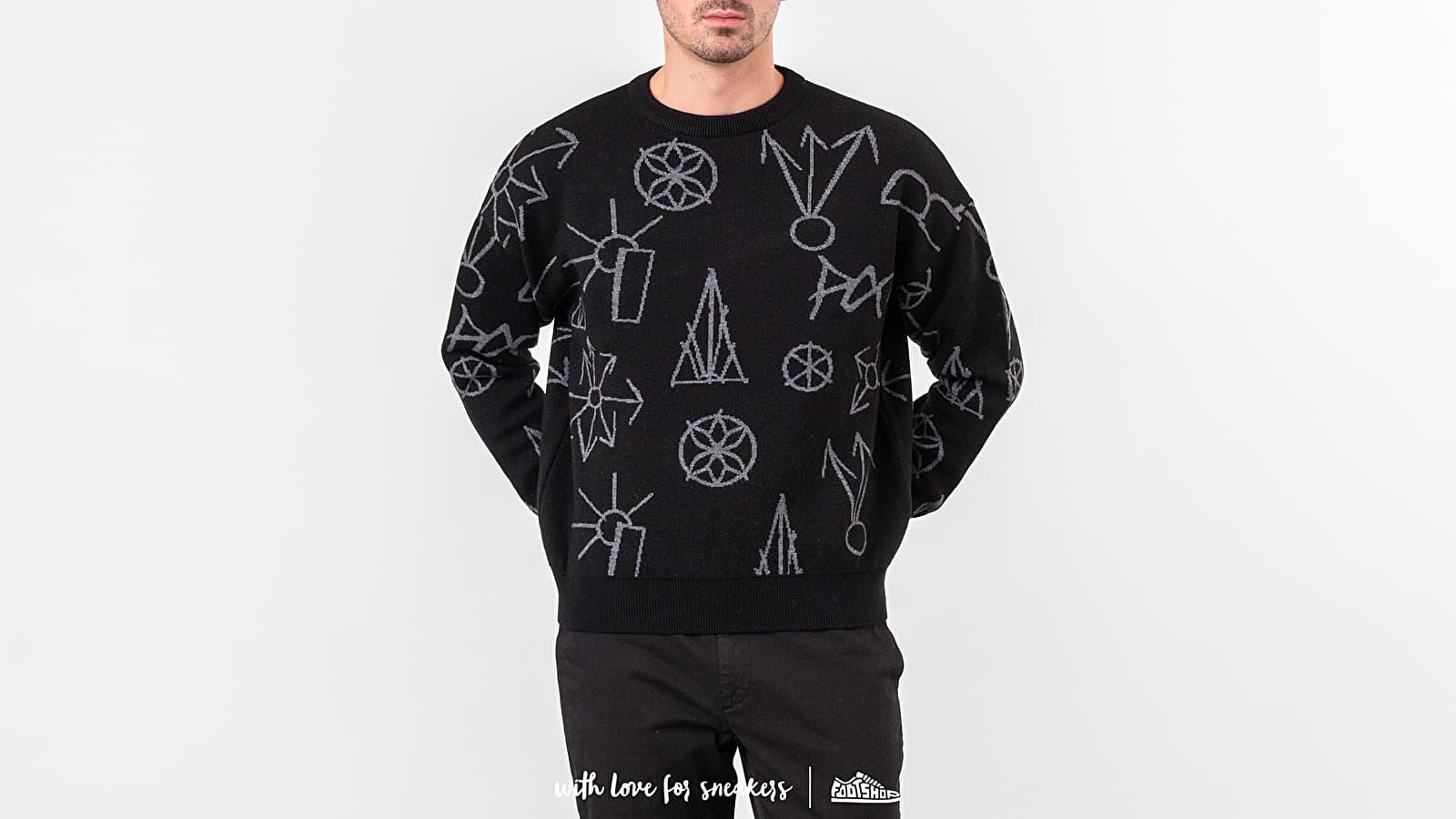 PACCBET Main Graphic Jacquard Knit Sweater Black za skvelú cenu 143 € kúpite na Footshop.sk