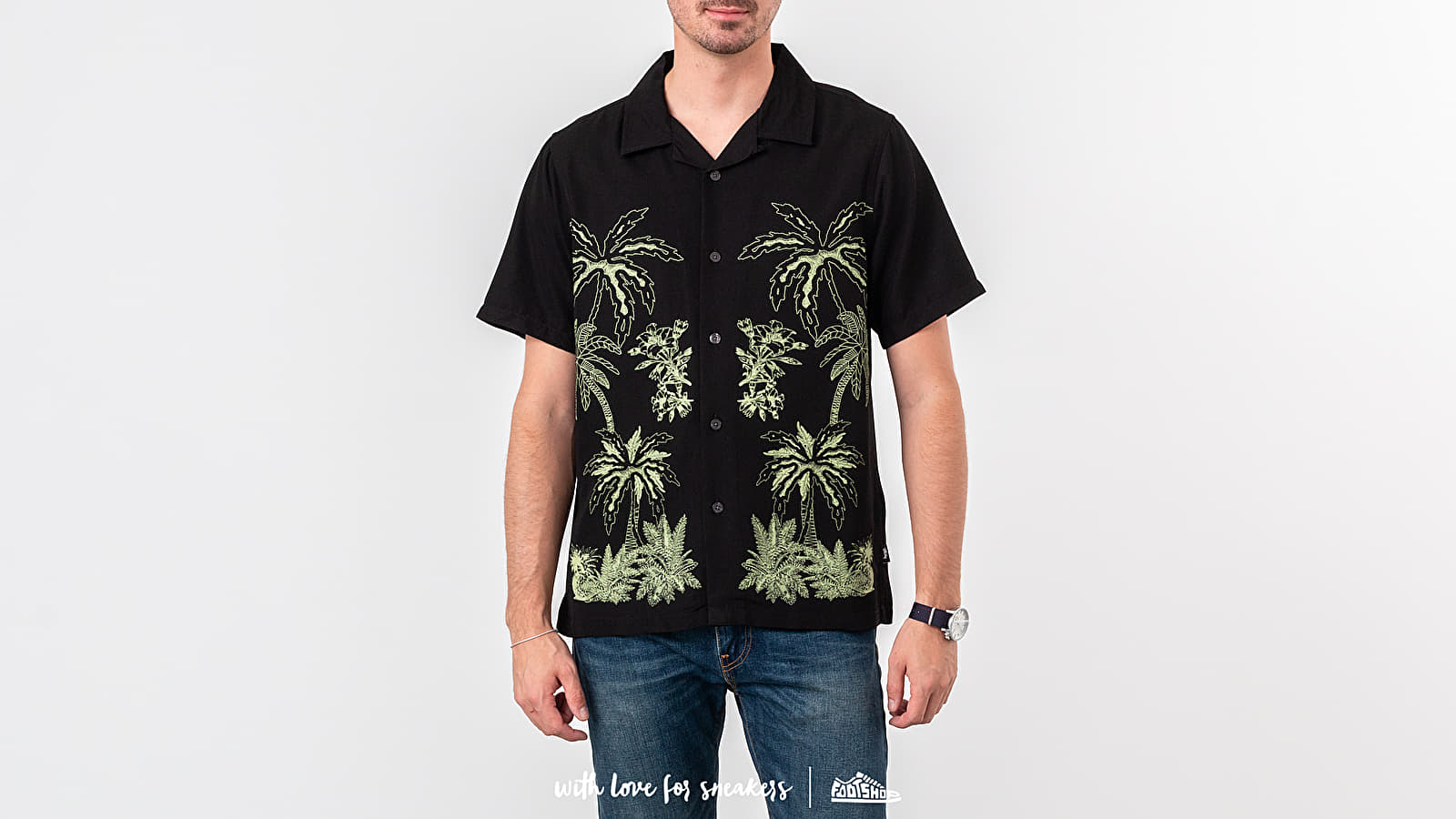 Košile Stüssy Palm Tree Shirt Black