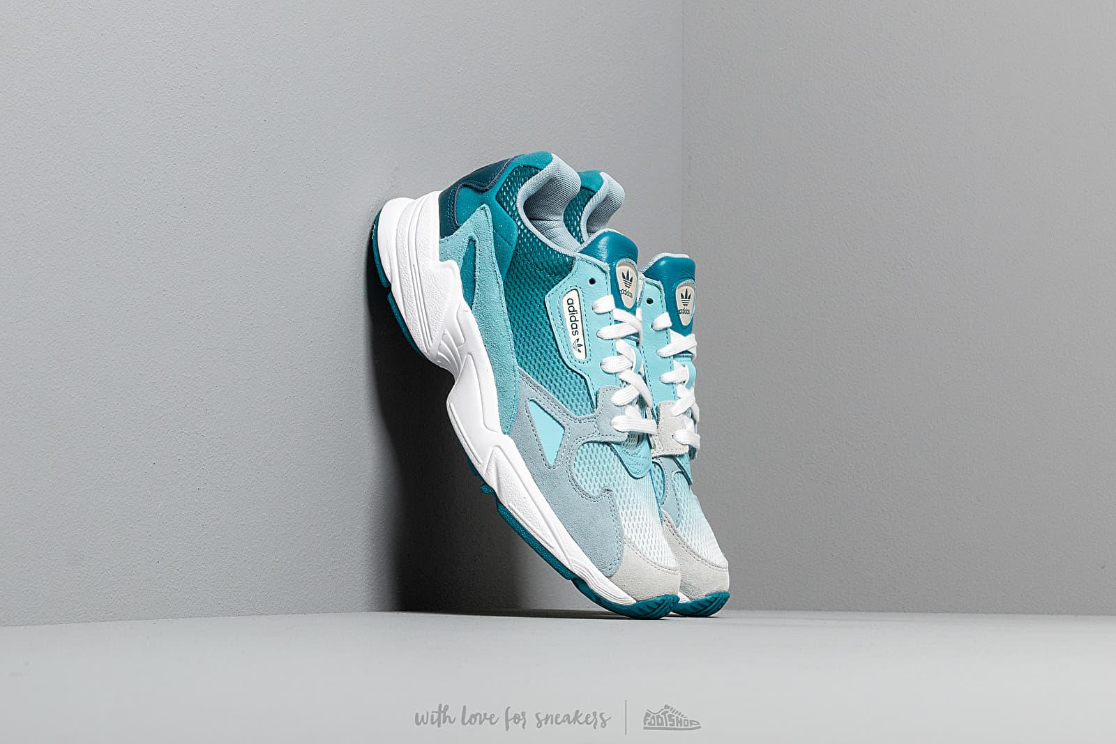 Women's shoes adidas Falcon W Blue Tint/ Light Aqua/ Ash Grey