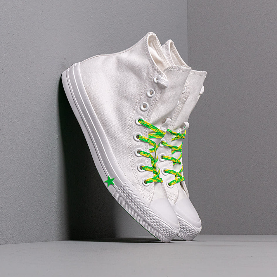 Converse Chuck Taylor All Star White/ Acid Green/ Fresh Yellow EUR 37