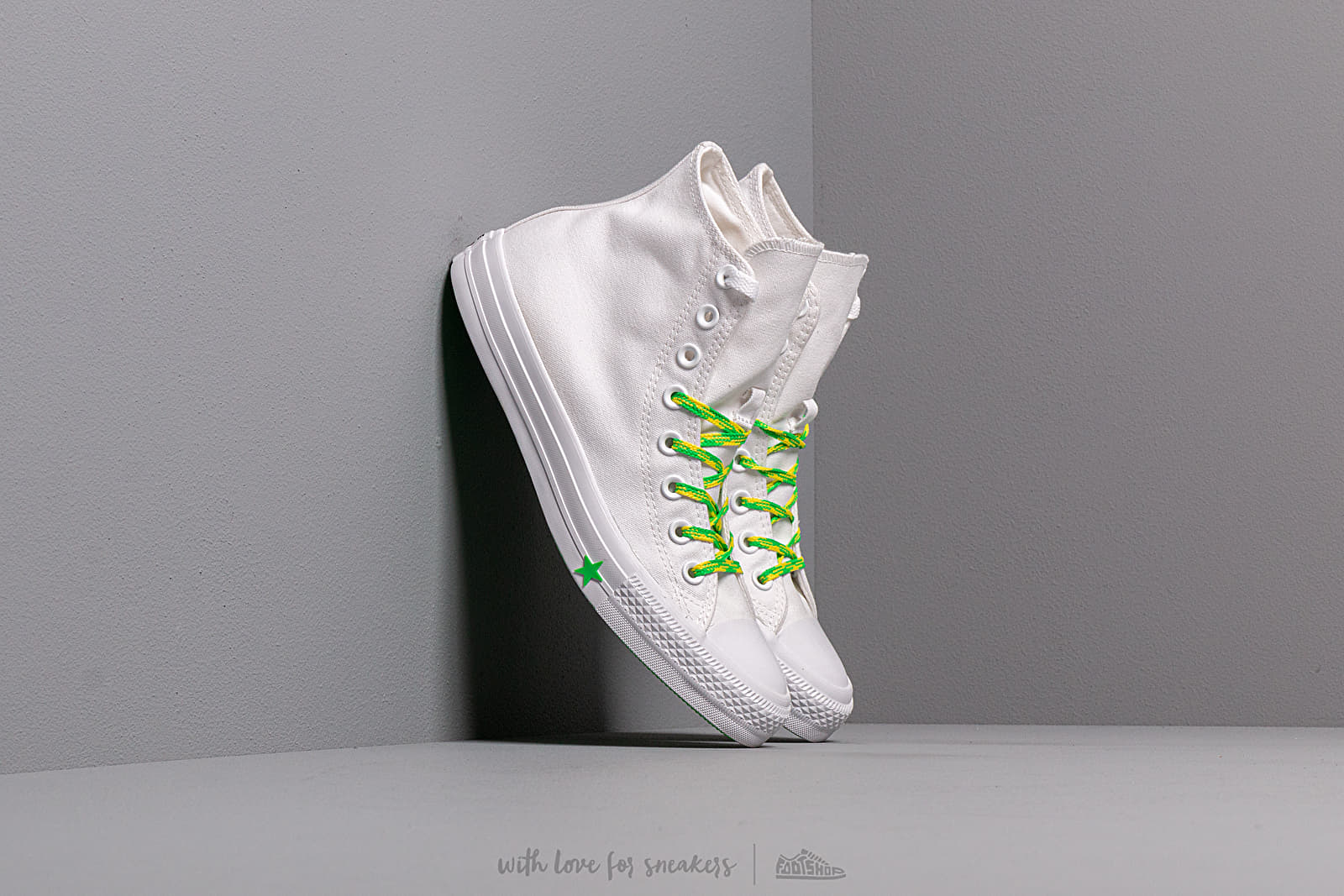 Women's shoes Converse Chuck Taylor All Star White/ Acid Green/ Fresh Yellow
