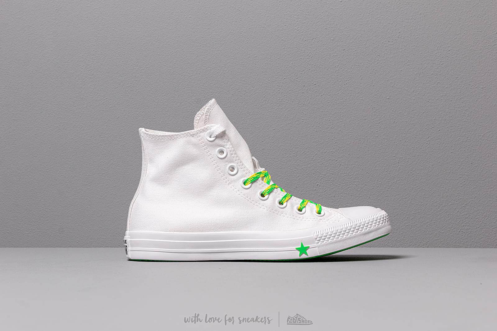 Converse Chuck Taylor All Star White Acid Green Fresh Yellow | Footshop