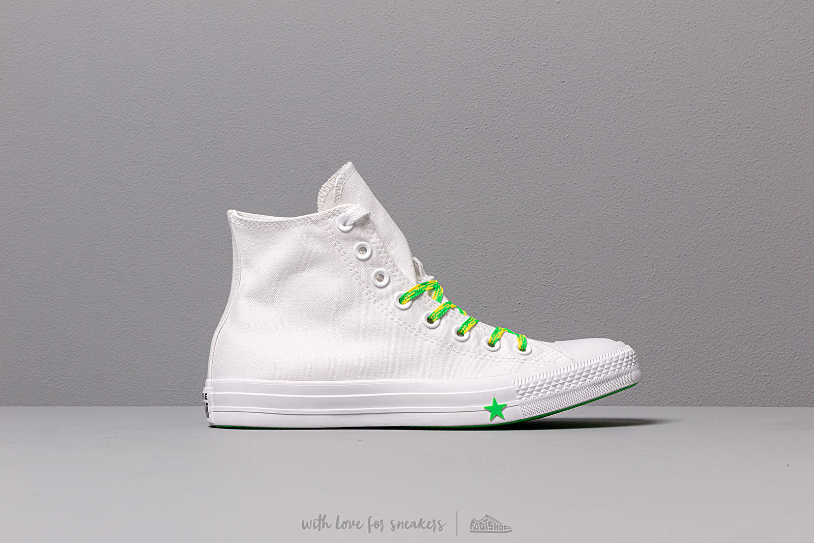 146c5a676fec7 Converse Chuck Taylor All Star White/ Acid Green/ Fresh Yellow W super  cenie 354