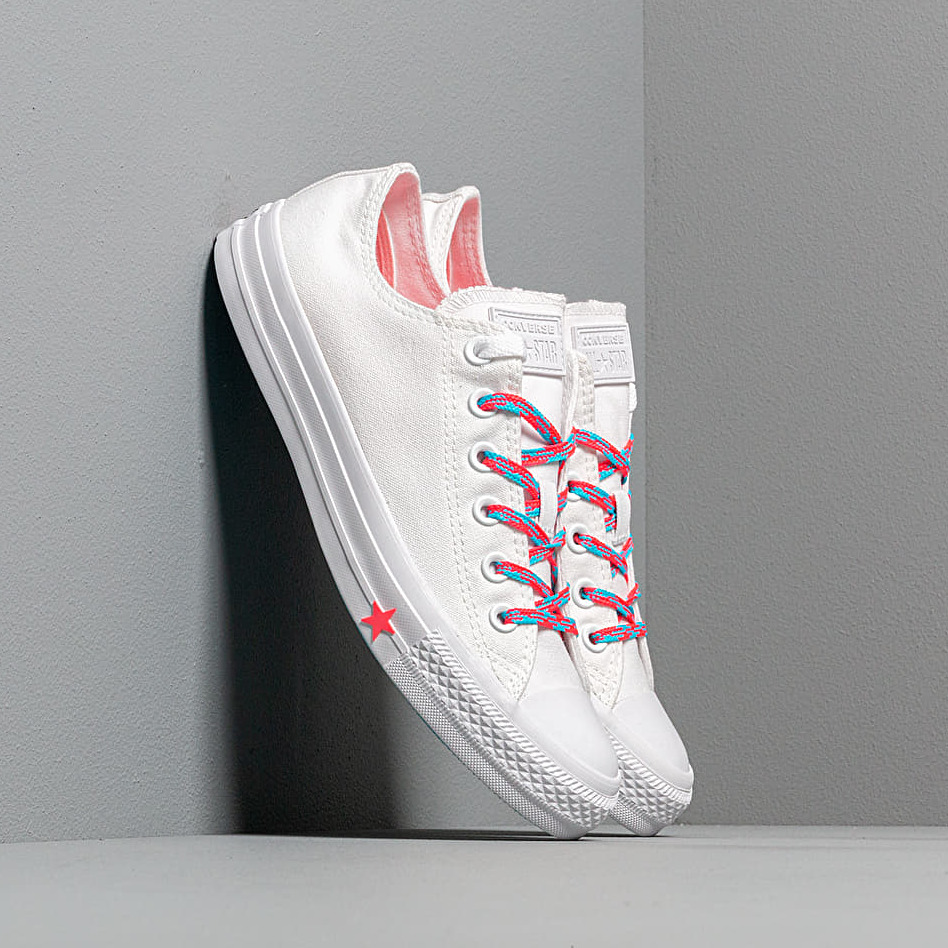Converse Chuck Taylor All Star White/ Racer Pink/ Gnarly Blue