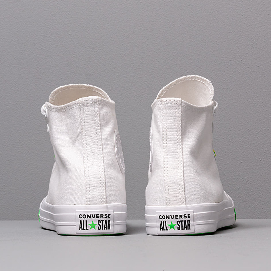 Converse Chuck Taylor All Star White/ Acid Green/ Fresh Yellow