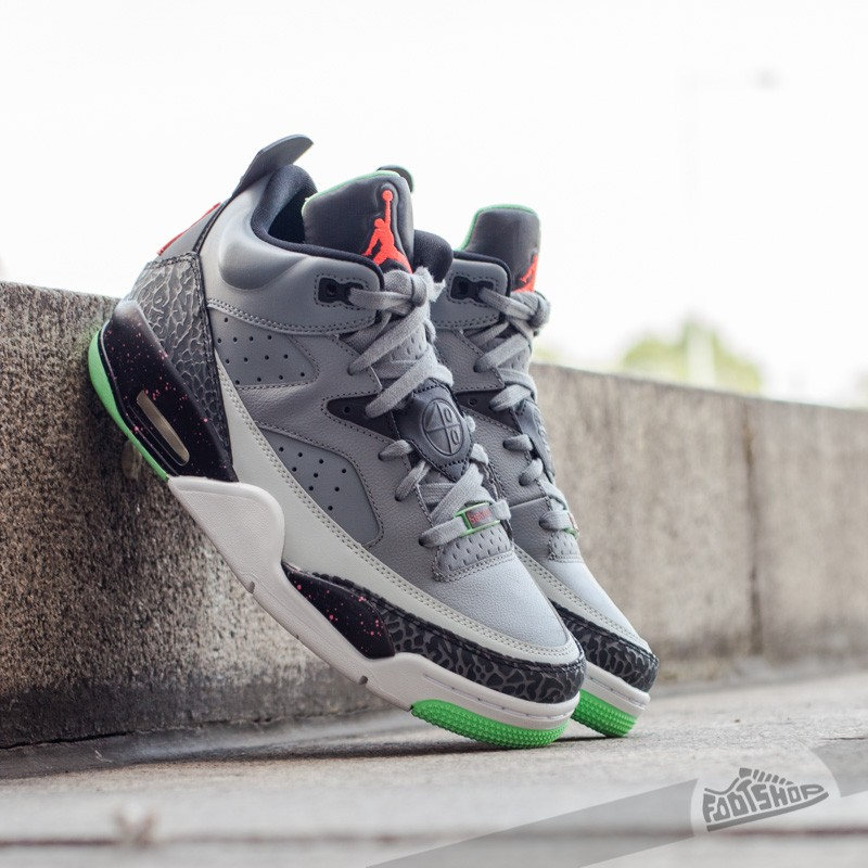new arrival f8a0b 8d99d Jordan Son Of Low Cool Grey Infrared 23-Black-Poison Green