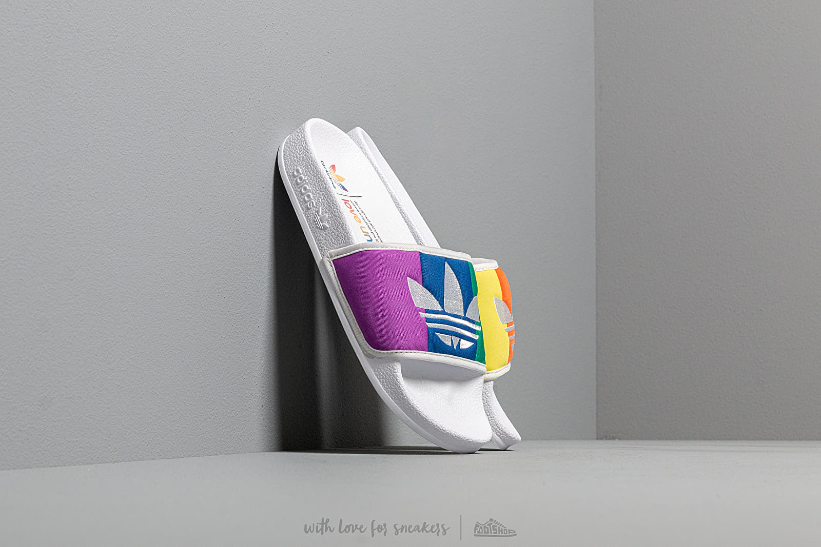 Men's shoes adidas Adilette Pride Ftw White/ Orange/ Scarlet