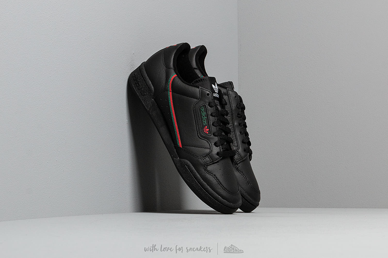 Zapatillas Hombre adidas Continental 80 Core Black/ Scarlet/ Core Green