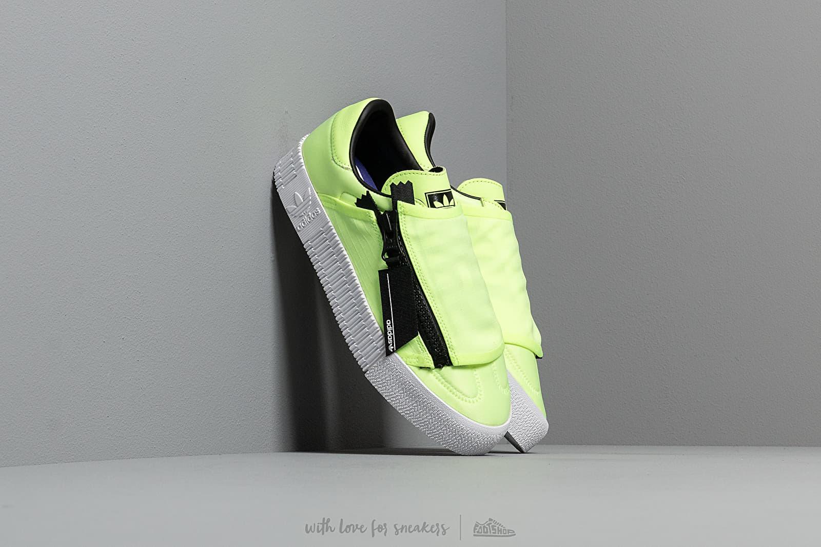 Women's shoes adidas Sambarose Zip W Hi-Res Yellow/ Core Black/ Ftw White