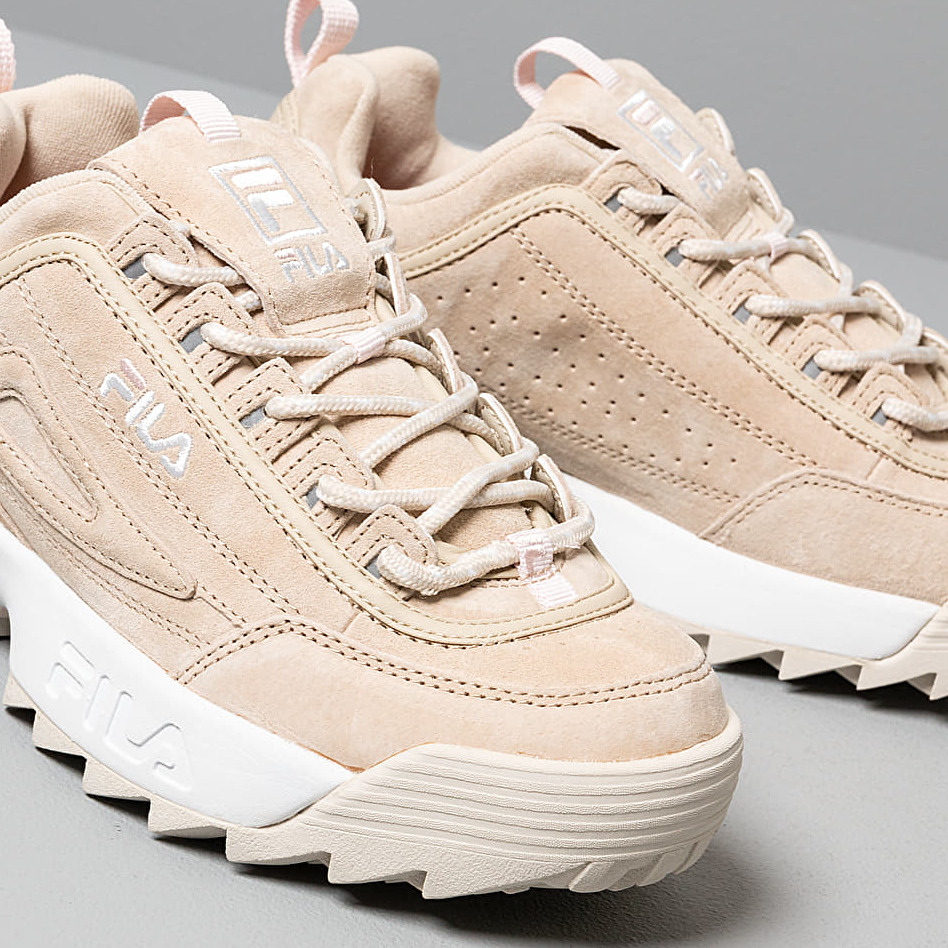FILA Disruptor S Low Wmn Feather Gray, Brown
