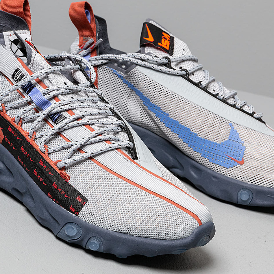 Nike React ISPA Wolf Grey/ Sapphire/ Dusty Peach, Gray