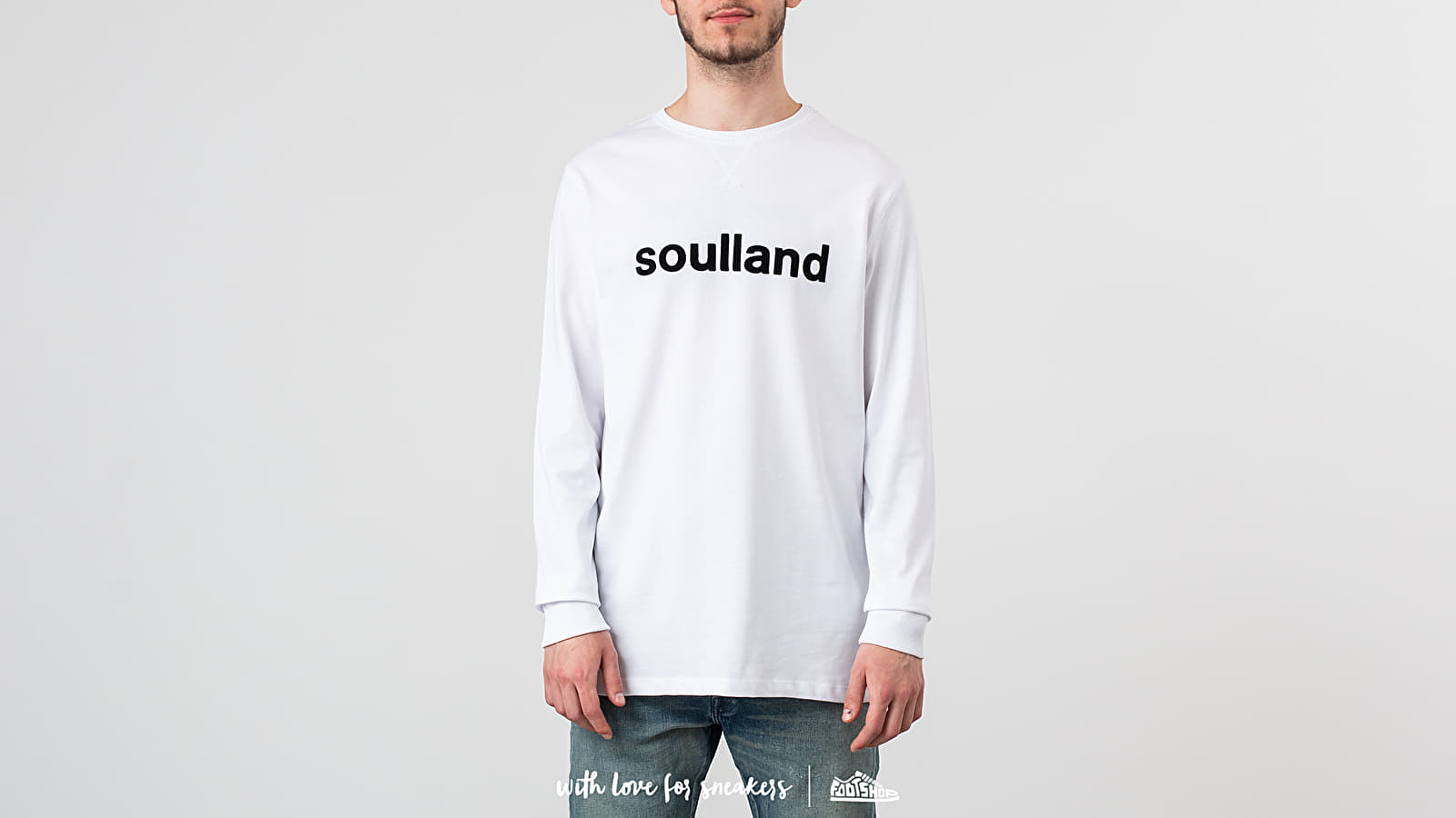 Μπλούζες Soulland Logic Jacob Long Sleeve Tee White