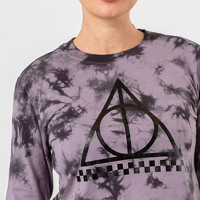 Vans x Harry Potter Deathly Hallows Longsleeve Crop Tee Purple/ Black