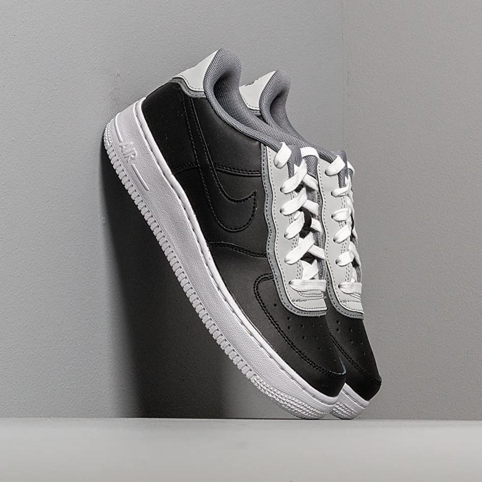 Nike Air Force 1 Lv8 1 Dbl Gs Black/ Black-Pure Platinum-Cool Grey EUR 38